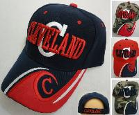 "CLEVELAND Hat ""C"" [C/Wave on Bill] Navy/Red"